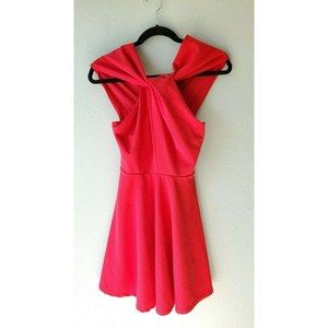 ASOS Size 2 Red Backless Criss Cross Front Party